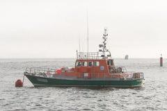 Bretagna, motoscafo del salvataggio del mare Fotografie Stock Libere da Diritti