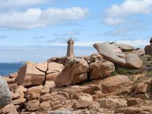 Bretagne - costa de granito rose1 imagem de stock royalty free