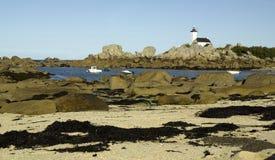 Bretagne, Finistere: Küstenlinie von Kersaint stockfotografie