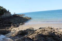 Bretagne härlig strand royaltyfri bild