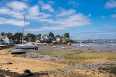 Bretagne, Ile Zusatz-Moines lizenzfreie stockfotos