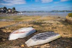 Bretagne, Ile Zusatz-Moines stockbilder