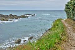 Bretagne, La Cote Sauvage in Batz sur Mer Stock Image