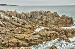 Bretagne, La Cote Sauvage in Batz sur Mer Royalty Free Stock Image