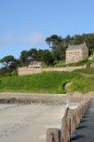 Bretagne, a praia de Trestrigniel em Perros Guirec Fotos de Stock Royalty Free
