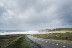 Bretagne. Road to the ocean royalty free stock image