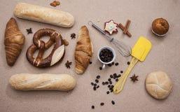 Bretcel торта конца-вверх коричневого цвета хлебопекарни еды хлеба Стоковые Изображения