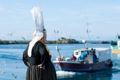 breton женщины головного убора стоковое фото