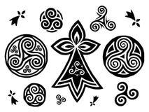 Breton And Celtic Triskels Symbols Vector Set Stock Photo