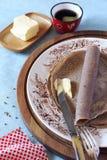Breton buckwheat crepes Royalty Free Stock Photo