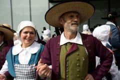 Breton dancers at the Pan Celtic Festival Stock Photos