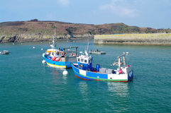 Breton fishing boats. In the le conquet harbour Royalty Free Stock Photos