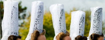 Breton headdress in brittany Royalty Free Stock Images