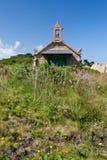 breton litet brittany hus Royaltyfri Foto