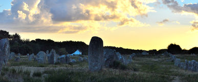 Breton megaliths of Carnac Stock Photography