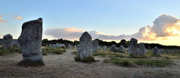 Breton megaliths of Carnac Royalty Free Stock Photo