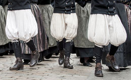 Breton pants in parade Stock Images