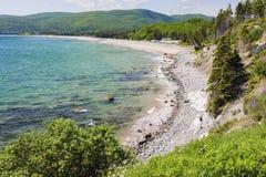 Breton Skotska högländernanationalpark för udde i Nova Scotia Royaltyfria Foton