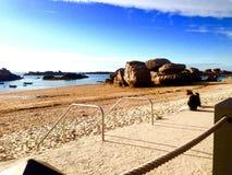 Breton strand Arkivbilder