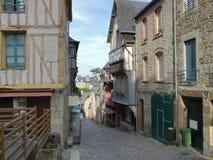 Bretonische Straßenlandschaft Lizenzfreies Stockbild