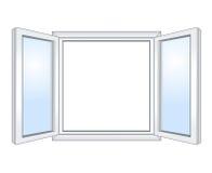 Brett öppet fönster Arkivbilder