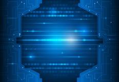 Brett-abstrakte Digitalnetztechnologie des Stromkreises Stockfoto