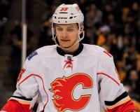 Brett Carson, Calgary-Flammen Stockbild
