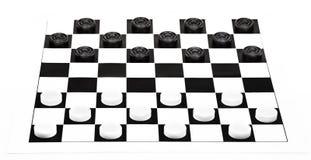 Brett der Kontrolleure 8x8 lokalisiert auf weißem Hintergrund Lizenzfreie Stockfotos