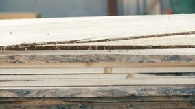 Brett in der Stapelholzindustrie stock video footage