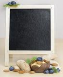 Brett für kulinarische Rezepte und das Menü Stockbilder