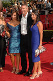 Brett Farve and family  Stock Photo