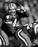 Brett Farve of theGreen Bay Packers. Brett Farve Quarterback for the Green Bay Packers in game action royalty free stock photography
