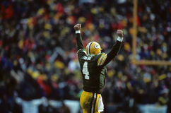 Brett Favre Green Bay Packers. Former Green Bay Packers QB Brett Favre. (Scanned from slide royalty free stock photography