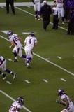 Brett Favre, Minnesota Vikings. Brett Favre going through pre-game warm ups as the quarterback for the Minnesota Vikings stock photography
