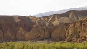 Brett landskap med stencarvings lager videofilmer