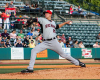 Brett Martin, Hickory Crawdads Stock Images