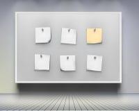 Brett mit Briefpapieren.  Vektorillustration. Lizenzfreies Stockfoto