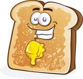 Brett smör på rostat brödtecken Arkivbilder