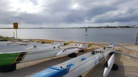 Brett vatten Gold Coast Arkivbilder