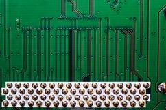 Brettabschluß der elektronischen Schaltung herauf Hintergrundbeschaffenheit stockbild