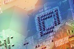 Brettabschluß der elektronischen Schaltung oben. lizenzfreies stockbild