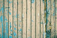 Bretter umfasst mit alter Farbe Lizenzfreie Stockfotografie