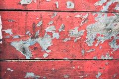 Bretter umfasst mit alter Farbe Lizenzfreies Stockfoto