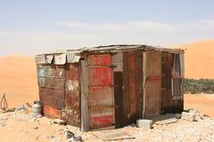 Bretterbude in der Wüste Lizenzfreie Stockfotos
