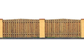 Bretterzaun lokalisiert Lizenzfreie Stockbilder