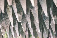 Bretterzaundetails und Materialien - Weinlesefilmeffekt Stockfotografie