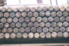 Bretterzaundetails und Materialien - Weinlesefilmeffekt Lizenzfreies Stockfoto