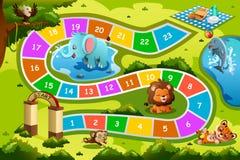 Brettspiel im Tierthema Stockbilder