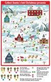 Brettspiel (sammeln Sie Sankt verlorene Weihnachtsgeschenke) Stockbild