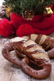 Bretzel de Noël Photo stock